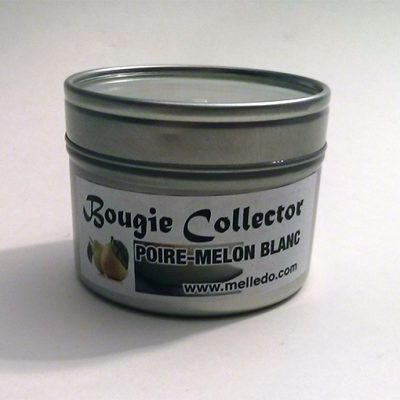 bougie collector poire melon blanc