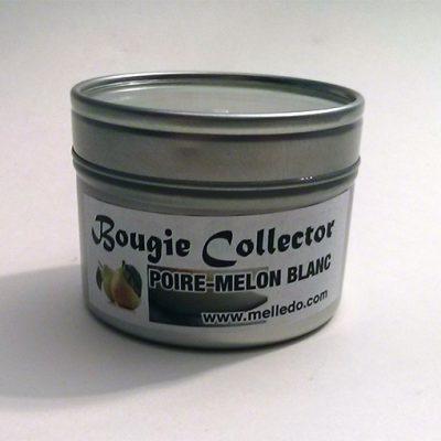 bougie collector poire melon blanc