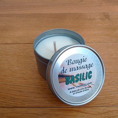 bougie massage basilic