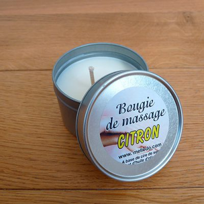 bougie de massage citron