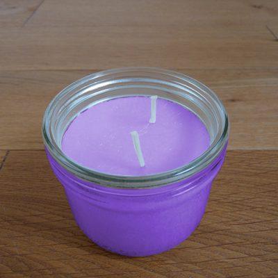 bougie parfumee xl violette