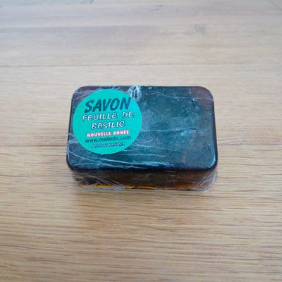 savon parfumé feuille de basilic