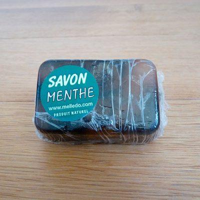 savon parfumé feuille de menthe